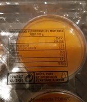 Bloc de foie gras et mandarine au gingembre - Informations nutritionnelles - fr