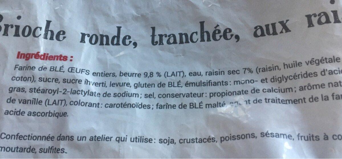 Cramique aux raisins - Ingrédients - fr