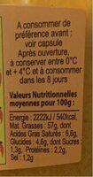 Conserv. Provençales Rouille le pot de 180 g - Voedingswaarden - fr