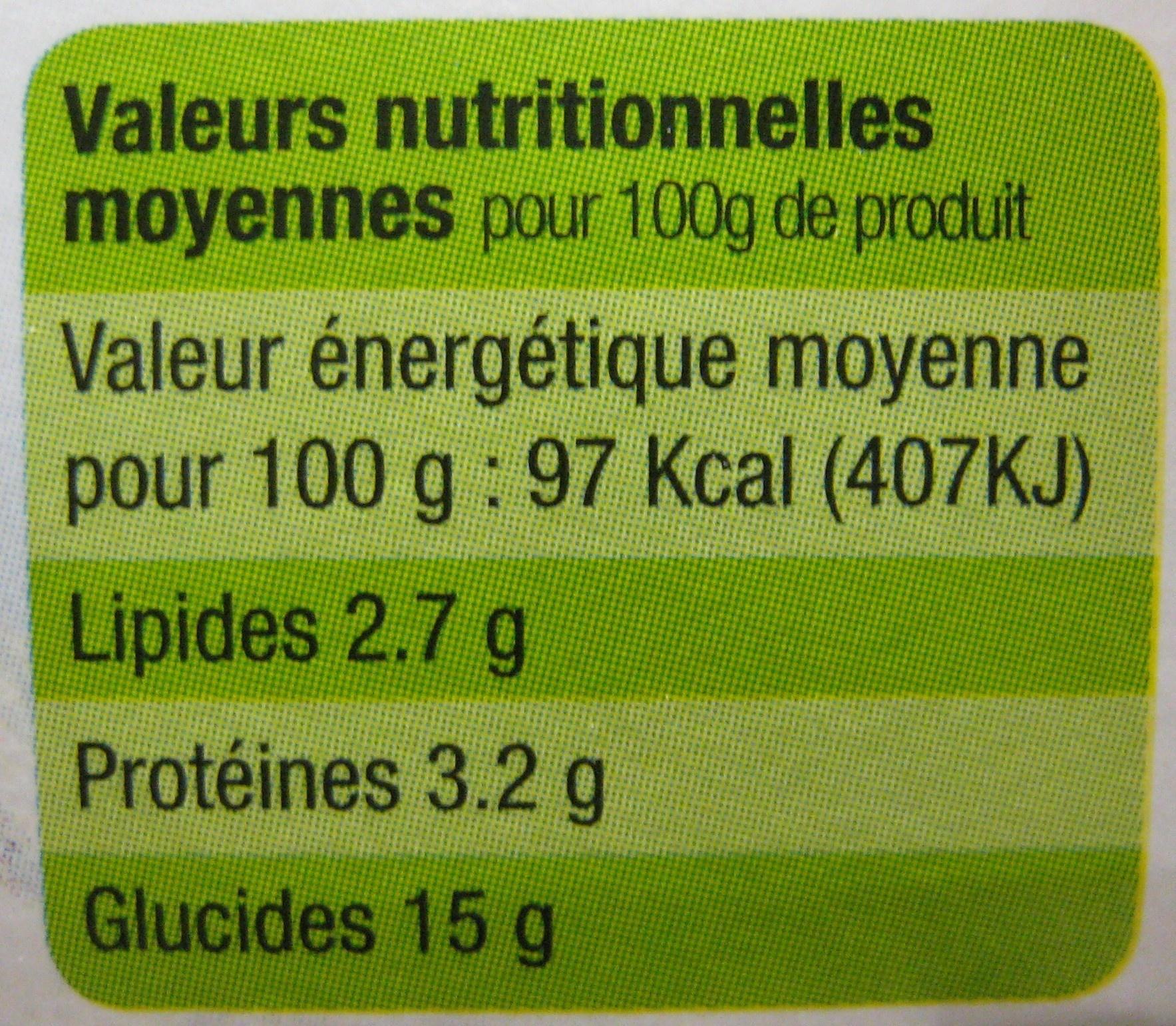 Yaourt au lait entier sucré à la mûre Bio - Informations nutritionnelles - fr