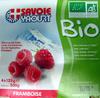 Yaourt au lait entier sucré à la framboise Bio - Produit