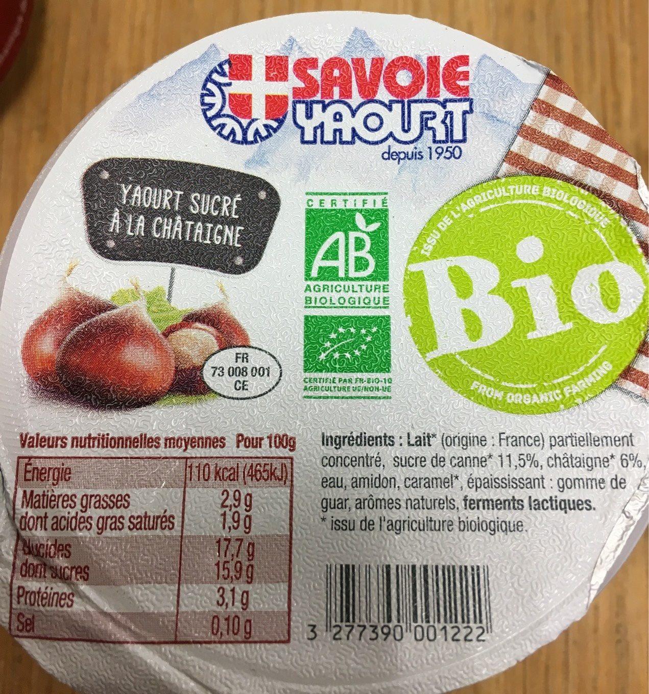 Yaourt Sucré sur Lit de Fruits de Saison, Hiver : Châtaigne et Figue - Product - fr
