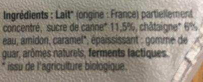 Yaourt Sucré sur Lit de Fruits de Saison, Hiver : Châtaigne et Figue - Ingrédients - fr