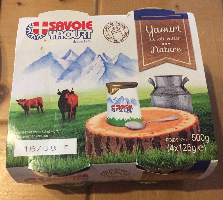 Yaourt au lait entier nature - Produit