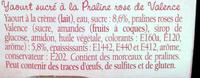Yaourt à la Praline rose - Ingrédients - fr
