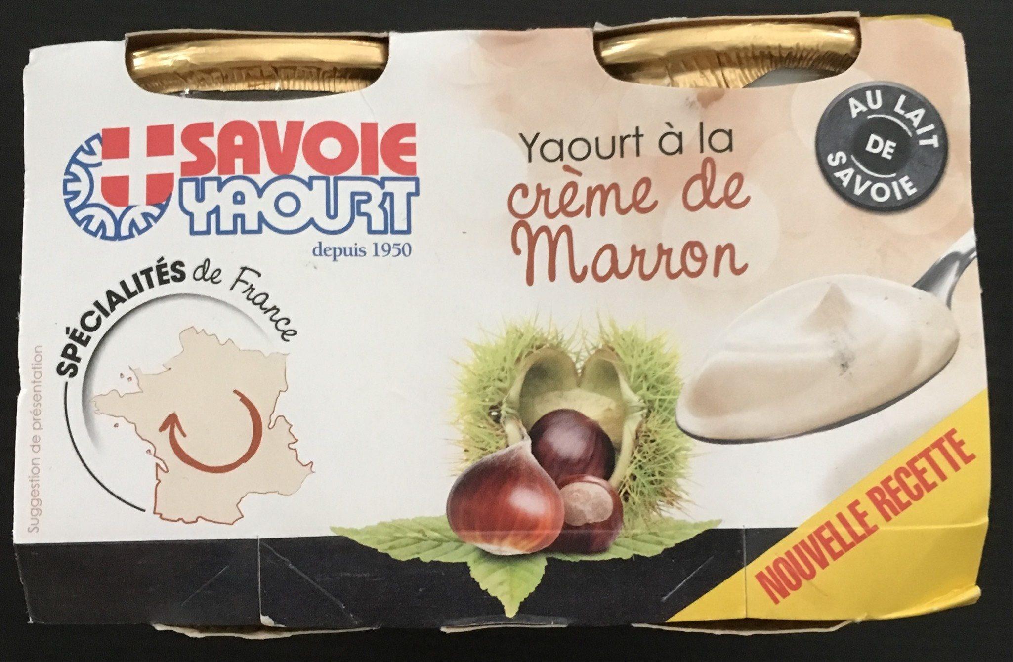 Savoie Yaourt aux marrons - Produit - fr