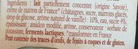 Savoie Yaourt aux marrons - Ingrédients - fr