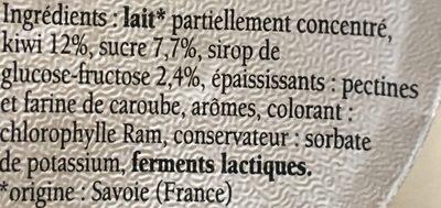 Plaisir des Alpes au kiwi - Ingrediënten - fr