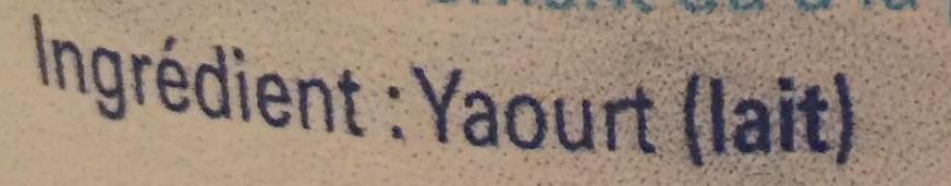 Yaourt Nature - Ingredients