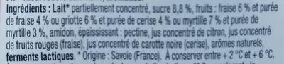 Plaisir des Alpes - Ingrédients - fr