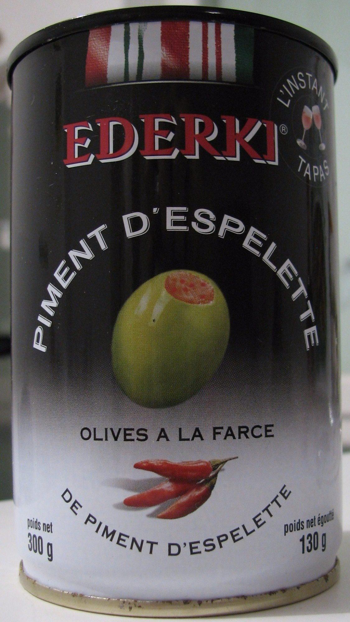 Olives la farce de piment d 39 espelette ederki 300 g for Origine du mot farce