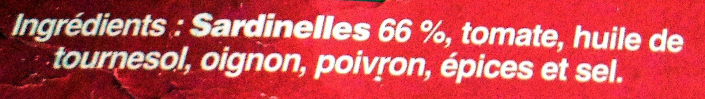 Sardinelles à La Basquaise - Ingredients - fr
