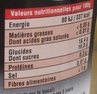 Pêches Blanches Entières du Sud-Ouest au Sirop - Informations nutritionnelles - fr