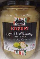 Poires Williams entières au sirop EDERKI - Product - fr