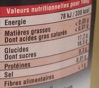 Poires Williams entières au sirop EDERKI - Nutrition facts - fr