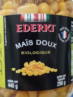 Maïs doux biologique - 1