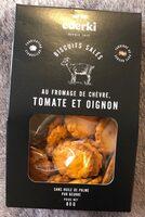 Biscuits salés au fromage de chevre, tomate er oignon - Product - fr