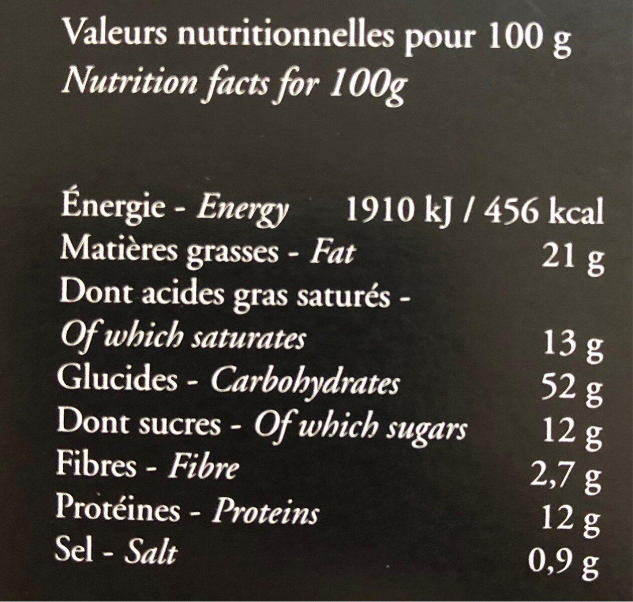 Biscuits salés au fromage de chevre, tomate er oignon - Nutrition facts - fr