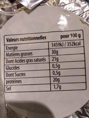 Petit Bleu 30%MG - Nutrition facts - fr