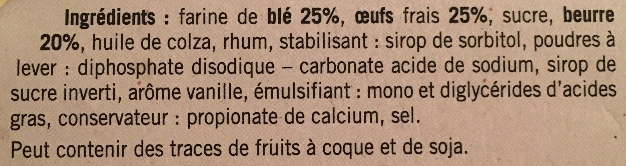 Tourte des Pyrenees Vedere Pur beurre - Ingrédients - fr