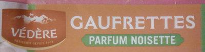Gaufrettes parfum Noisette - Produit - fr