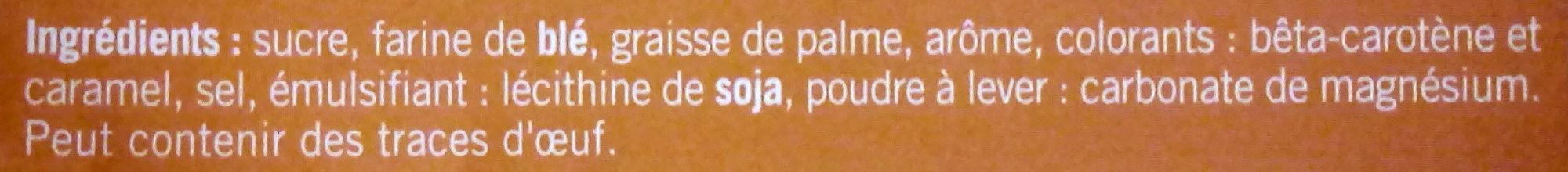 Gaufrettes parfum Noisette - Ingrédients - fr