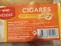 Cigares à L'ancienne, Pur Beurre, Le Paquet, 125g - Voedigswaarden