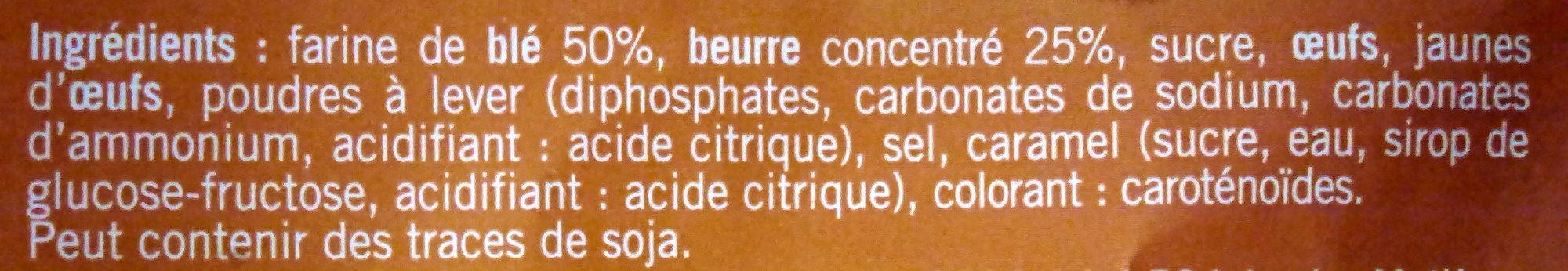 Sablés Pur Beurre - Ingrédients - fr