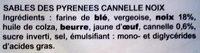 Sablés des Pyrénées cannelle-noix - Ingrédients - fr