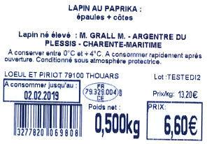 Lapin a griller au paprika - Ingredients