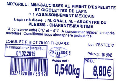 PLATEAU ÉTÉ LAPIN - Ingredients