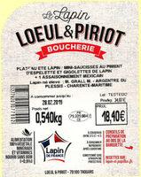 Plateau été gigolettes et saucisses au piment d Espelette. - Ingredients