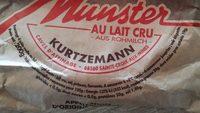 Munster au lait cru - Ingrediënten - fr