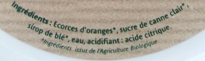 Cubes d'Écorces d'Oranges Confits - Ingrediënten