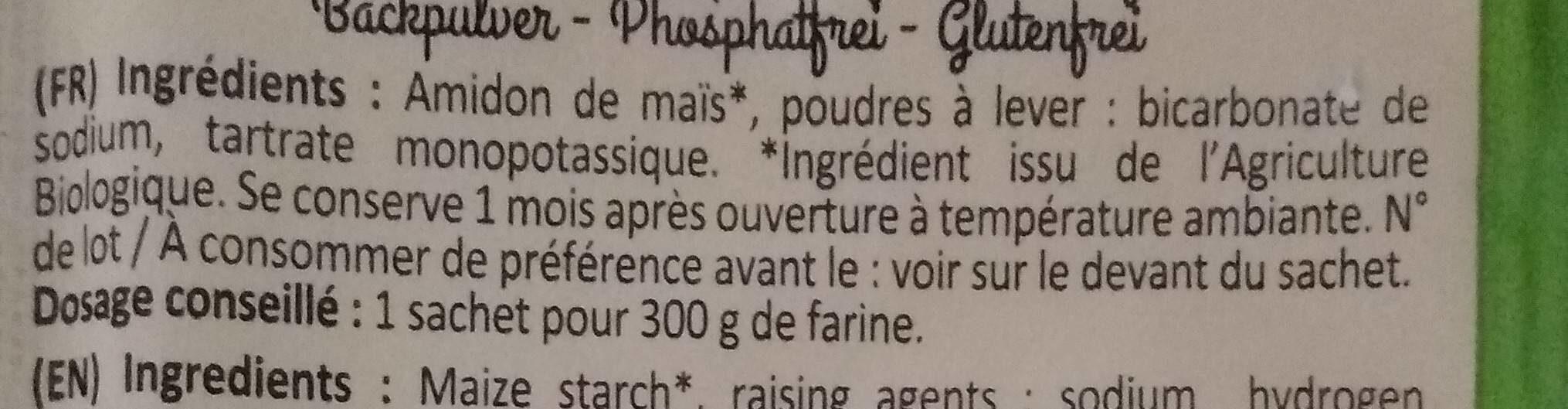 Poudre à Lever - Valori nutrizionali - fr
