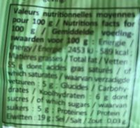 Amande Effilée - Nutrition facts