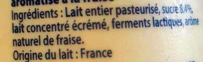 Yaourt Saveur Fraise - Ingrediënten - fr