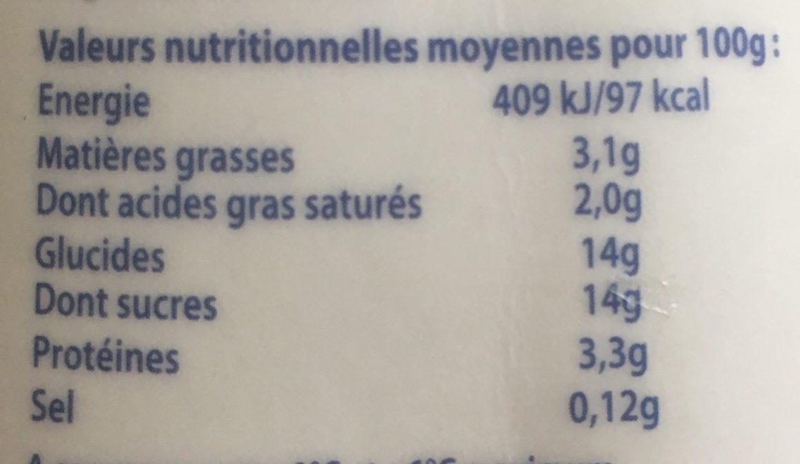 Yaourt Saveur Fraise - Voedingswaarden - fr