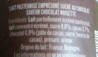 Emprésuré Chocolat saveur Noisette - Ingrediënten - fr