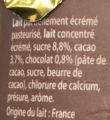 Emprésuré Chocolat saveur Noisette - Ingrediënten