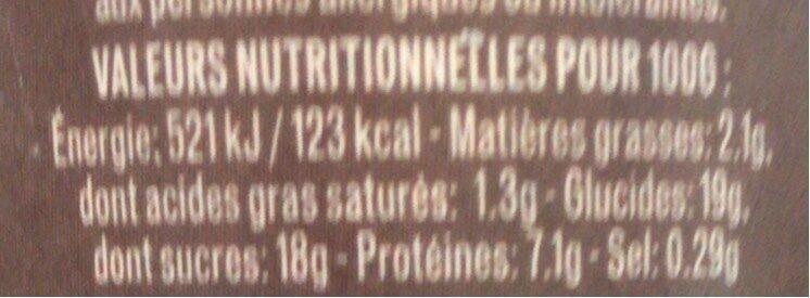 Emprésuré Chocolat saveur Noisette - Voedingswaarden - fr