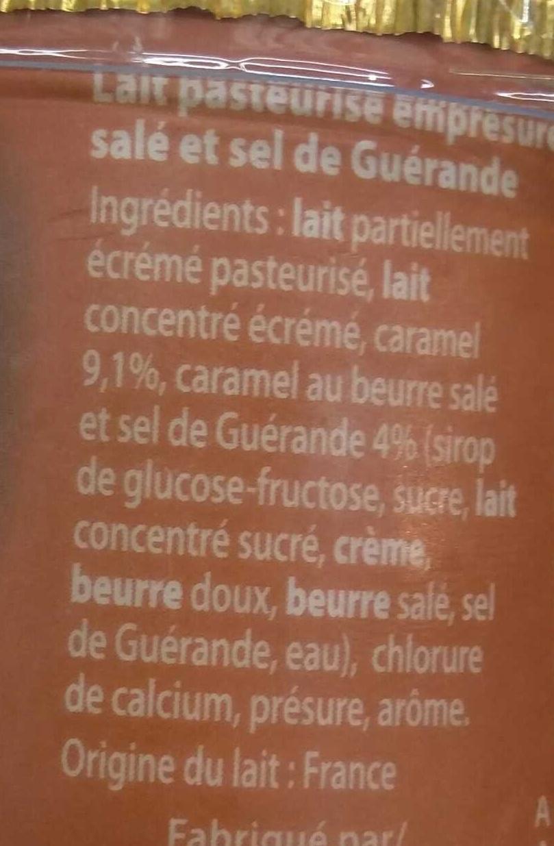 Emprésuré Caramel Beurre Sel de Guérande - Ingrédients - fr