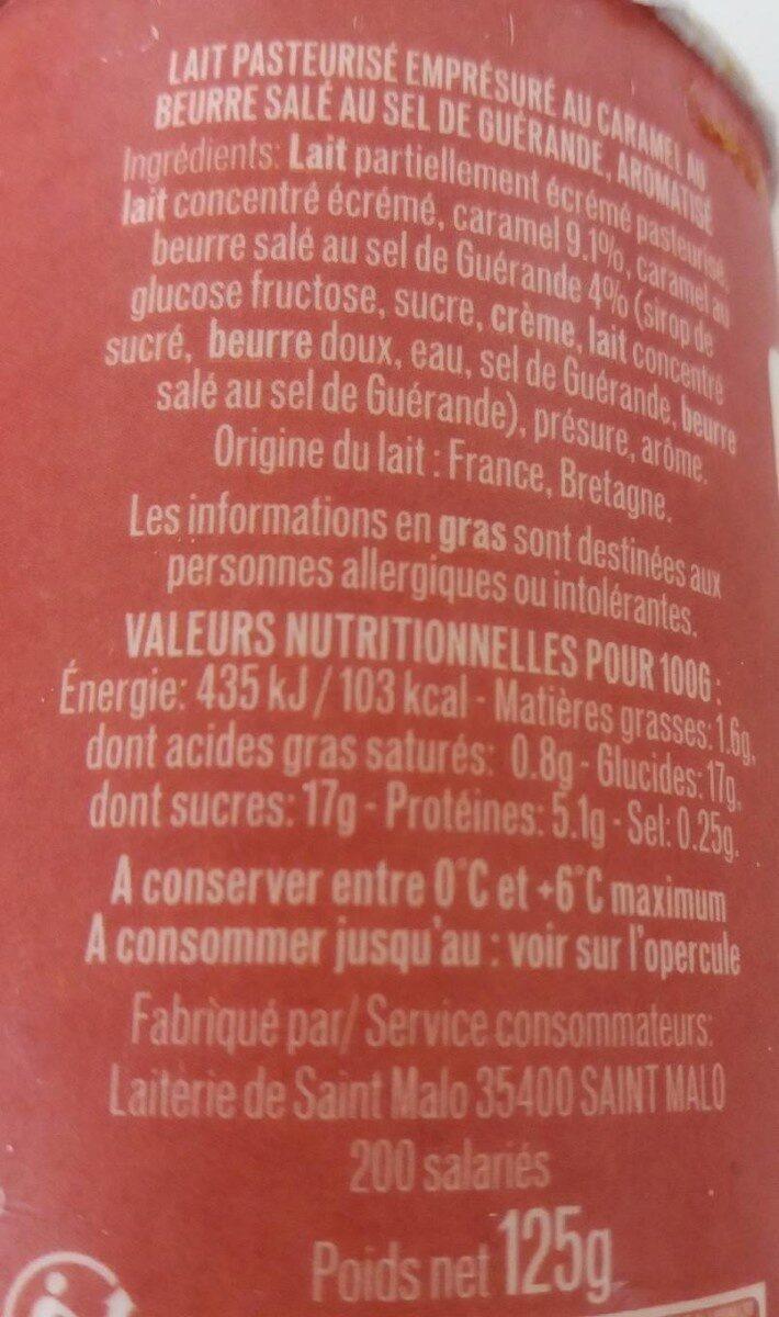 Emprésuré Caramel Beurre Sel de Guérande - Informations nutritionnelles - fr