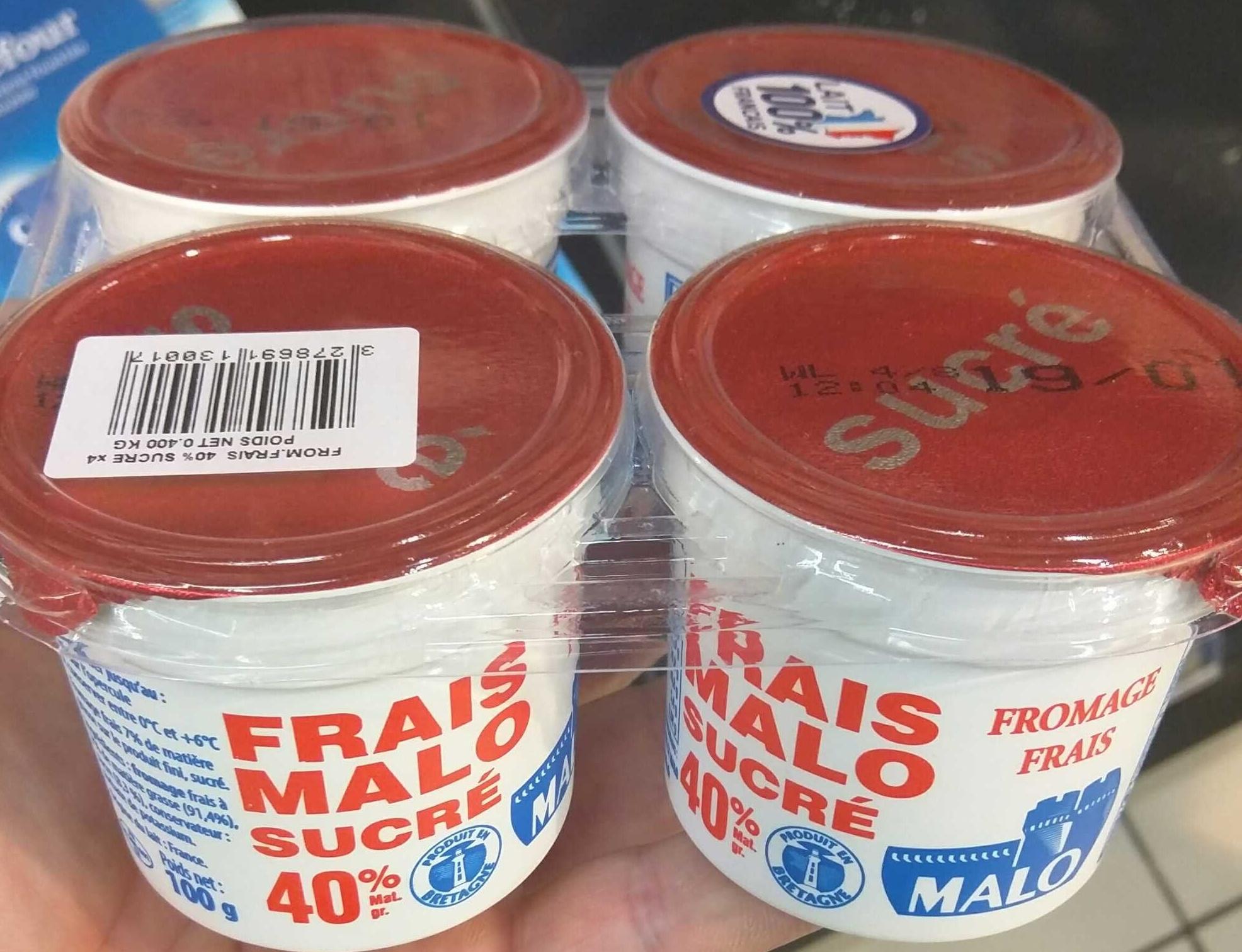Fromage Frais Sucré 40% MG - Produit - fr