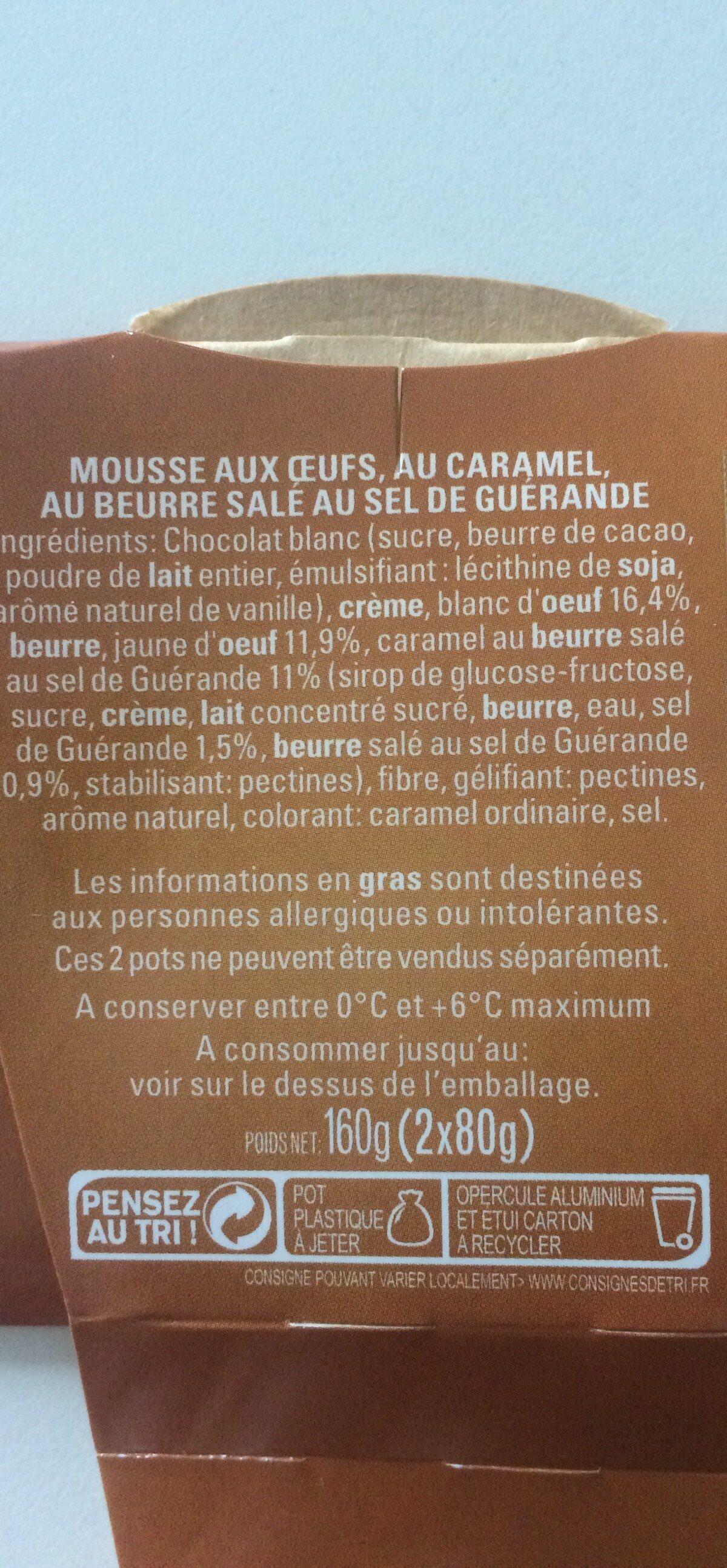 Mousse au Caramel au Beurre Salé - Ingrédients - fr
