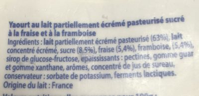 Yaourts Aux Fruits Malo, Fraise / Framboise - Ingredienti - fr