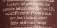 L'Emprésuré Chocolat - Ingrédients - fr