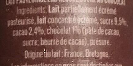 L'Emprésuré Chocolat - Ingredients - fr