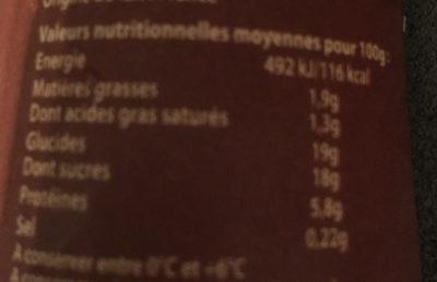 L'Emprésuré Chocolat - Nutrition facts - fr