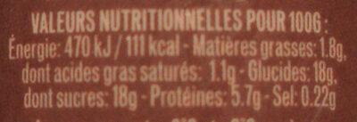 L'Emprésuré Chocolat - Informations nutritionnelles - fr